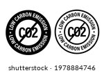 low carbon emission vector icon ...   Shutterstock .eps vector #1978884746