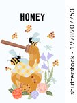 card or label design with honey ... | Shutterstock .eps vector #1978907753