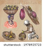cocoa cacao and chocolate.... | Shutterstock .eps vector #1978925723
