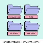 user interface folder icons....