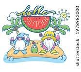 hello summer  gnomes vector ... | Shutterstock .eps vector #1978982000