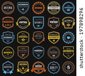 set of various badges and logo... | Shutterstock .eps vector #197898296