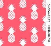 pineapples summer pink fruit... | Shutterstock .eps vector #1978993040