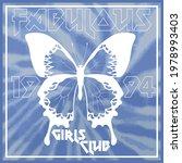 vintage fabulous girls club... | Shutterstock .eps vector #1978993403