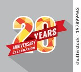 20th years anniversary... | Shutterstock .eps vector #197899463