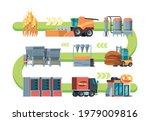 bread production. wheat field...   Shutterstock .eps vector #1979009816