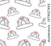 a boho rainbow. for fabrics ...   Shutterstock .eps vector #1979027693
