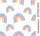 a boho rainbow. for fabrics ...   Shutterstock .eps vector #1979027699