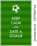 soccer poster. vector... | Shutterstock .eps vector #197904716