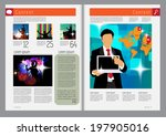 template music event magazine.... | Shutterstock .eps vector #197905016