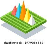 3d growing graphic. isometric... | Shutterstock .eps vector #1979056556