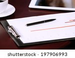 business documents with pen on... | Shutterstock . vector #197906993