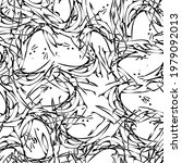 seamless monochrome pattern of...   Shutterstock .eps vector #1979092013