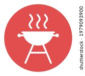 grill bbq cookout vector white...