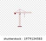 cargo crane  tower crane icon.... | Shutterstock .eps vector #1979134583
