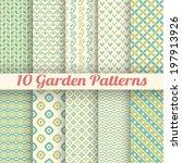 10 green garden vector seamless ... | Shutterstock .eps vector #197913926
