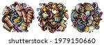 desserts cartoon vector doodle... | Shutterstock .eps vector #1979150660