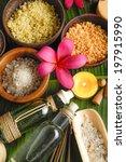 spa setting on banana leaf | Shutterstock . vector #197915990
