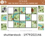 vector camping cut and glue...   Shutterstock .eps vector #1979202146