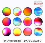 colorful gradient set with the...