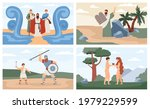 posters with characters of... | Shutterstock .eps vector #1979229599