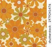 70's retro sunflower seamless... | Shutterstock .eps vector #1979241476