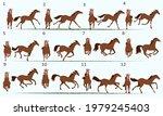 animation of a 2d horse. twelve ... | Shutterstock .eps vector #1979245403