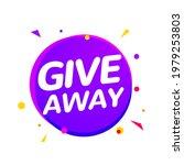 giveaway announcement media...   Shutterstock .eps vector #1979253803