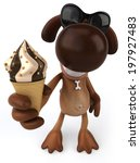 Dog And Ice Cream