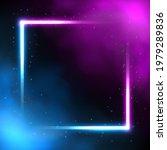glowing square neon lighting...   Shutterstock .eps vector #1979289836