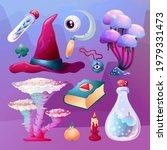 Set Of Cartoon Magic Witchcraft ...