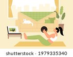 young woman following the... | Shutterstock .eps vector #1979335340