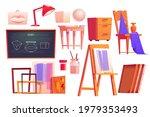 art classroom furniture ... | Shutterstock .eps vector #1979353493