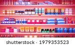 pharmacy shelf  drugstore rack... | Shutterstock .eps vector #1979353523