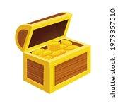 treasure chest full of golden...