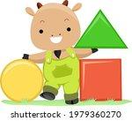 illustration of a goat mascot... | Shutterstock .eps vector #1979360270