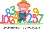 illustration of a pig mascot... | Shutterstock .eps vector #1979360276