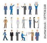 vector business peoples in... | Shutterstock .eps vector #197936168