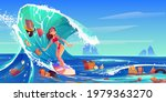 pollution sea by plastic trash... | Shutterstock .eps vector #1979363270