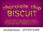 chocolate chip biscuit alphabet ...   Shutterstock .eps vector #1979371349