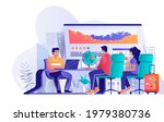 travel agency concept in flat... | Shutterstock .eps vector #1979380736