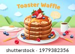 toaster waffle ads in 3d... | Shutterstock .eps vector #1979382356