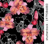 beautiful seamless pattern with ... | Shutterstock . vector #1979386883