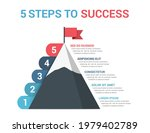 5 steps to success  infographic ... | Shutterstock .eps vector #1979402789