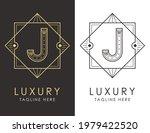 art deco letter j logo in two...   Shutterstock .eps vector #1979422520
