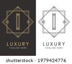 art deco letter i logo in two...   Shutterstock .eps vector #1979424776