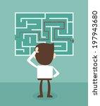 confused  businessman looking... | Shutterstock .eps vector #197943680