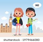 two school kids  learners ...   Shutterstock .eps vector #1979466080
