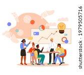 business brainstorming meeting  ... | Shutterstock .eps vector #1979505716