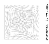 Grid  Mesh With Distorted ...